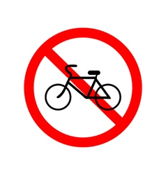 No bicycle bike prohibited symbol vector