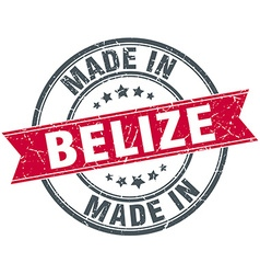 Made in belize red round vintage stamp vector