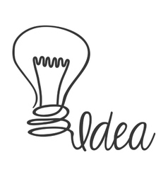 Light bulb icon idea design graphic vector