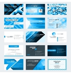 Set of modern creative business card templates vector