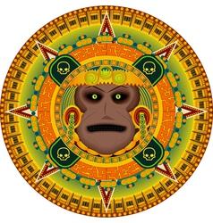 ancient god aztec vector image