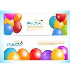 balloon banners vector image vector image