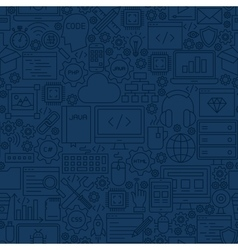 Blue programming line tile pattern vector
