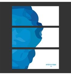 blue watercolor banner vector image vector image