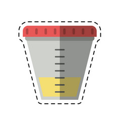 Cartoon container sample laboratory icon vector