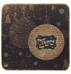christmas balls vintage vector image vector image
