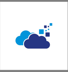 Cloud digital data logo vector