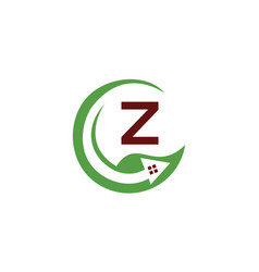 eco home leaf grow investment initial z vector image vector image