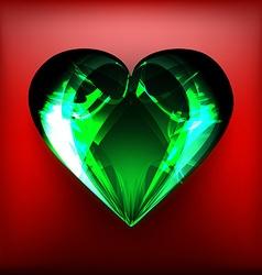 Emerald heart vector