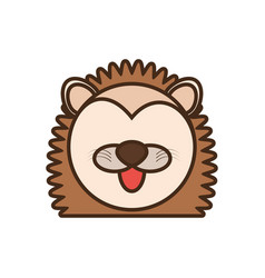 face porcupine cartoon animal vector image