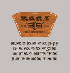 Futuristic font in the style of handmade graphics vector