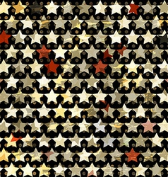 Gold star seamless vector