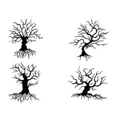Halloween trees vector