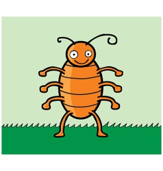 Happy cockroach cartoon vector