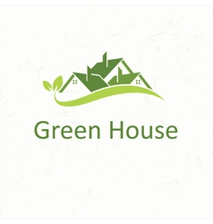 House roofs for real estate business green house vector