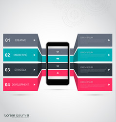 Infographic design with smartphone template vector