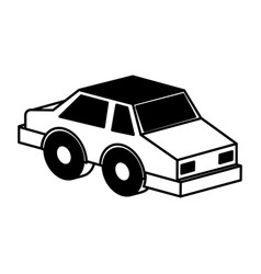 isometric car isolated icon vector image vector image