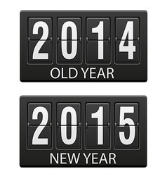 Mechanical scoreboard old and the new year vector