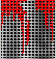 metal background with red vector image