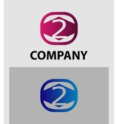 Number 2 logo logotype design vector