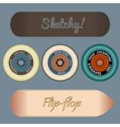 Photorealistic skateboard template vector