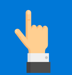 Pointing finger hand vector