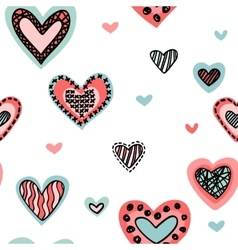 Seamless background with hearts isolated on a vector image