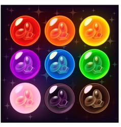 shiny bubbles set vector image