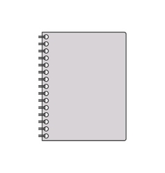 Silhouette gray scale spiral notepad vector
