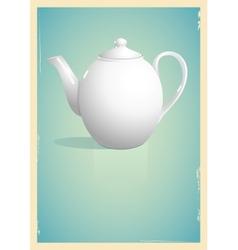 Teapot in retro style vector image