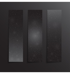 Vertical rectangle black banners snow winter vector