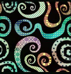 vintage spiral seamless pattern vector image