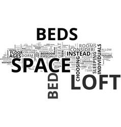 Who should i buy a loft bed text word cloud vector