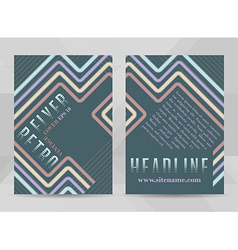 Retro flyer template a4 size business brochure vector