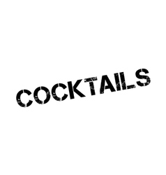 Cocktails rubber stamp vector