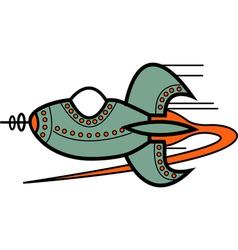 Cartoon retro spaceship vector image