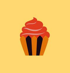 creamy cupcake vector image