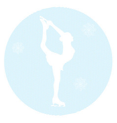 Ice skater on a white background vector