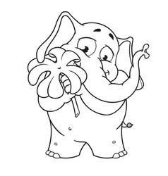 Cartoon holds clover for good luck vector