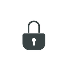 Lock icon simple vector