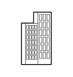 Building business office or apartment residential vector