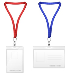 Plastic vertical and horizontal badges vector