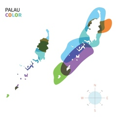 Abstract color map of palau vector