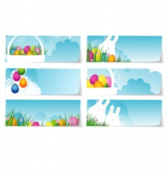 Stickers set easter vector