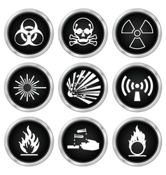 Hazard Icons vector image