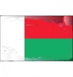 Madagascar national flag vector image