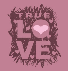 true love vector image