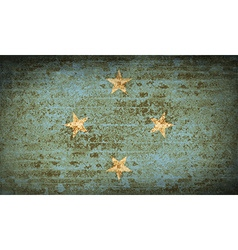 Flags micronesia with dirty paper texture vector