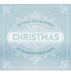 Christmas greeting card background vintage vector
