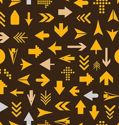 Arrow sign silhouettes seamless pattern vector